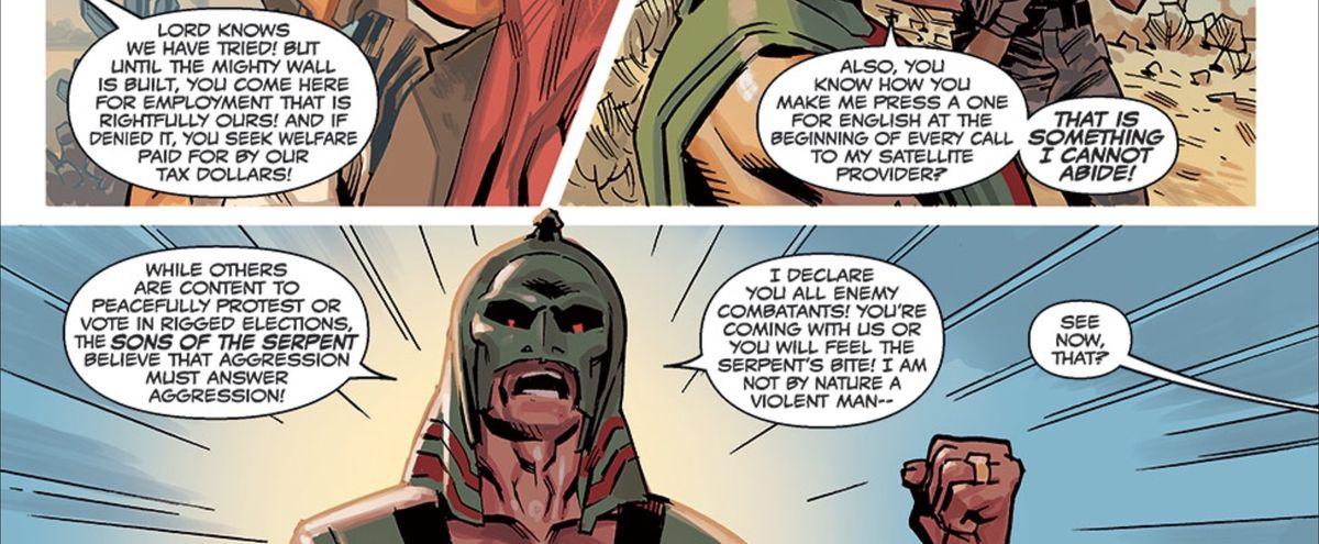 Captain America: Sam Wilson #1 - Supreme Serpent manifesto