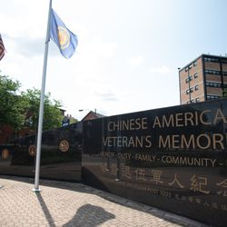 Chinese American Veterans Memorial in the Chinatown neighborhood of Chicago.   Colin Boyle/Sun-Times