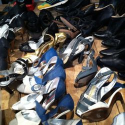 The runway sample shoes - Manolos and Walter Steiger