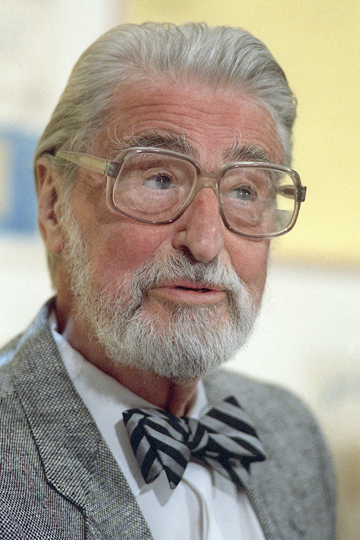 In an April 3, 1987, file photo, American author, artist and publisher Theodor Seuss Geisel, known as Dr. Seuss, speaks in Dallas.