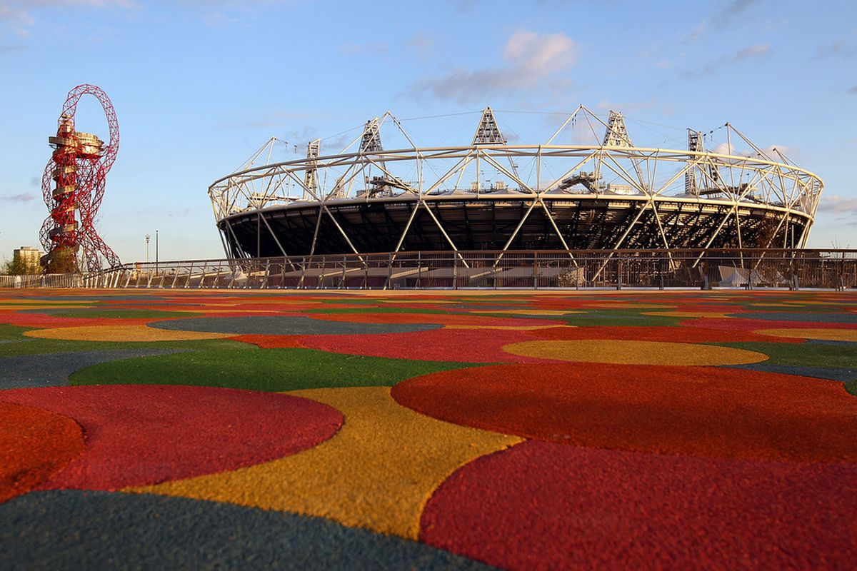 LONDON, ENGLAND - MAY 01:  A general view of the Olympic stadium at the Olympic Park on May 1, 2012 in London, England.  (Photo by Clive Rose/Getty Images)