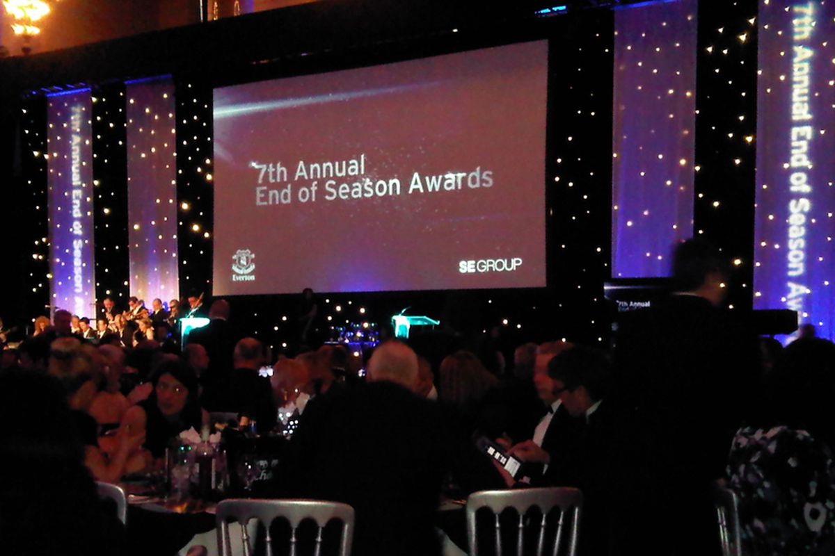 7th Annual Everton End of Season Awards at St George's Hall, Liverpool.