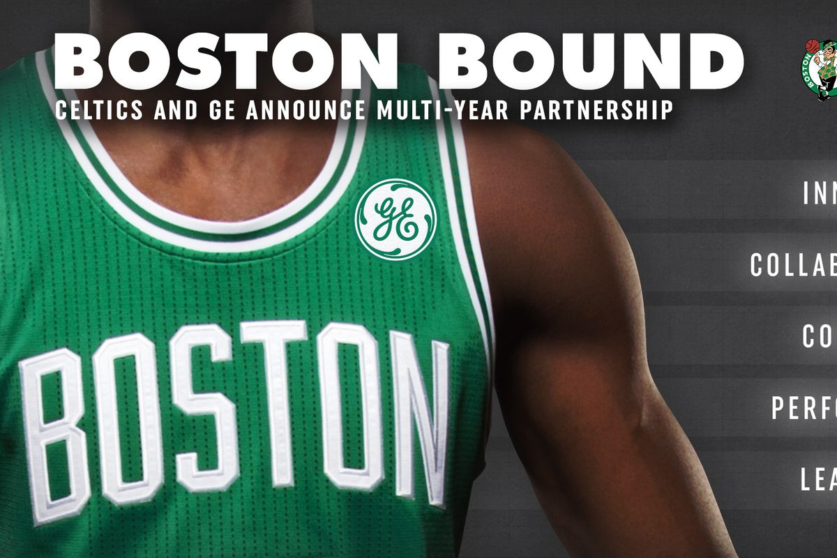 best website fc177 ccf76 Boston Celtics and General Electric announce jersey ...