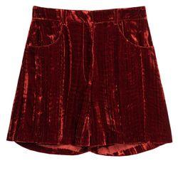 Velvet shorts, $65