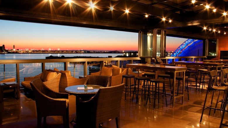 A sunset view from Legal Harborside