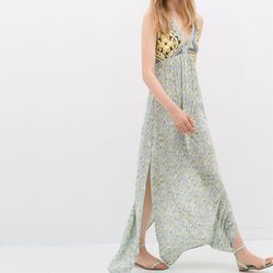 "<b>Zara</b> Combined Maxi Dress, <a href=""http://www.zara.com/us/en/woman/dresses/party/combined-maxi-dress-c400010p2089042.html"">$79.90</a>"