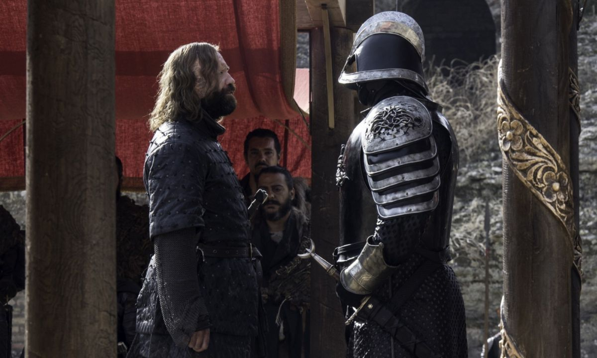 The Clegane brothers, the Hound and the Mountain.