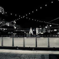 View looking south, toward the ice rink from the Brickhouse Restaurant in the plaza building