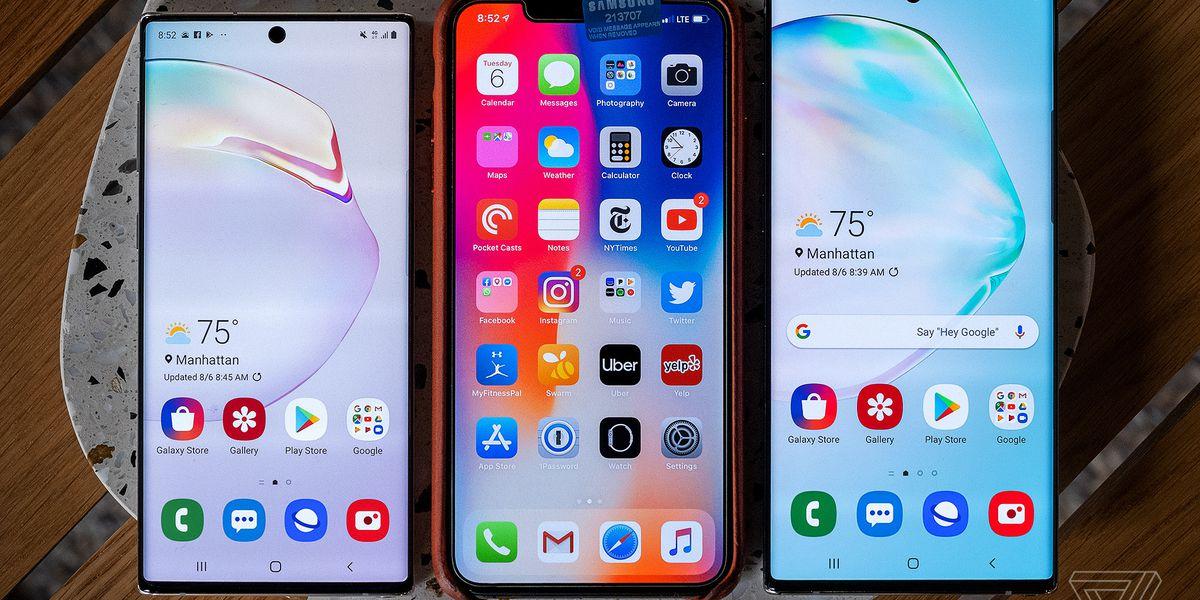 Samsung Galaxy Note 10 vs  Samsung Galaxy S10 vs  iPhone XS