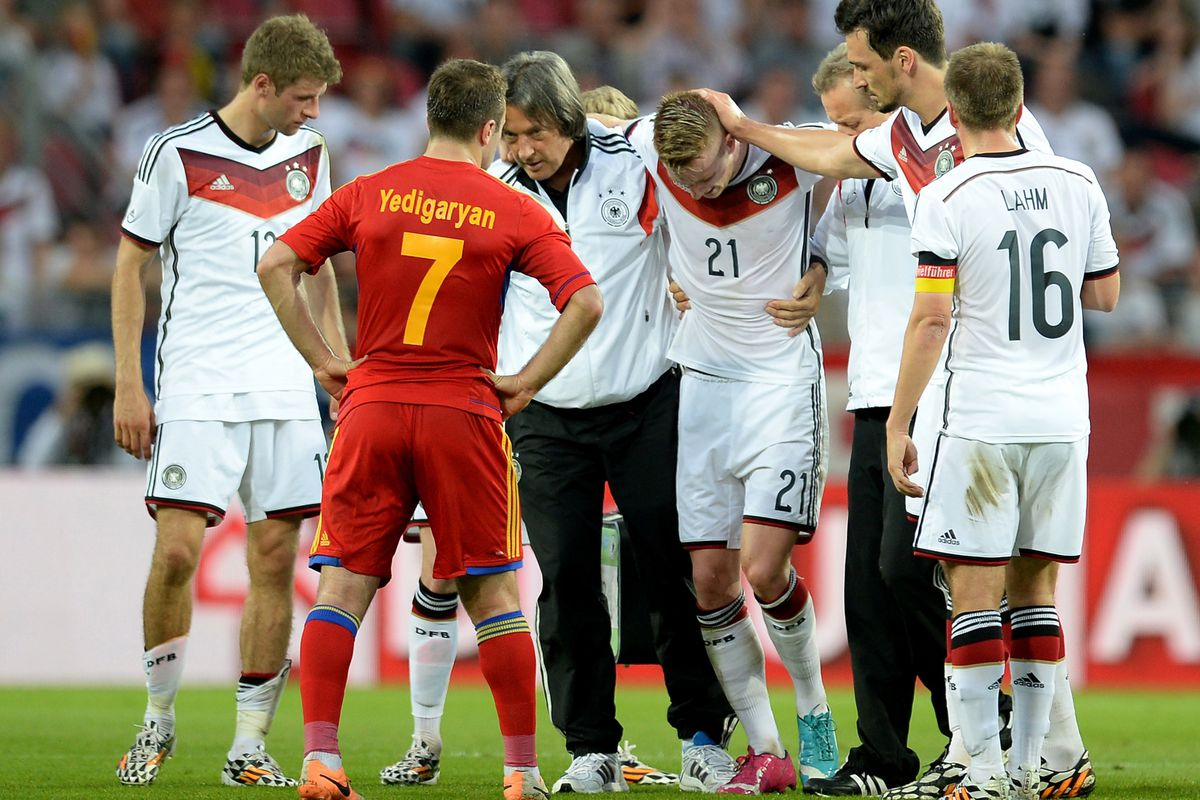 The loss of Marco Reus certainly won't help Germany...