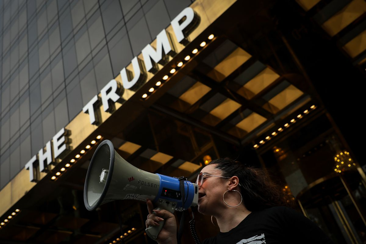 World Refugee Day Marked In New York With Protest And March To United Nations And Trump World
