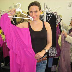 "Kara Janx and her Pink ""Bethany"" dress"