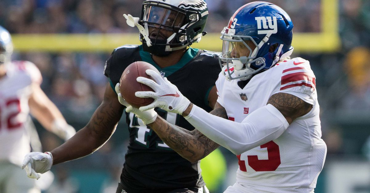 Giants-Redskins final injury report: Odell Beckham limited with quad issue