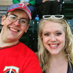 Ballpark selfie.