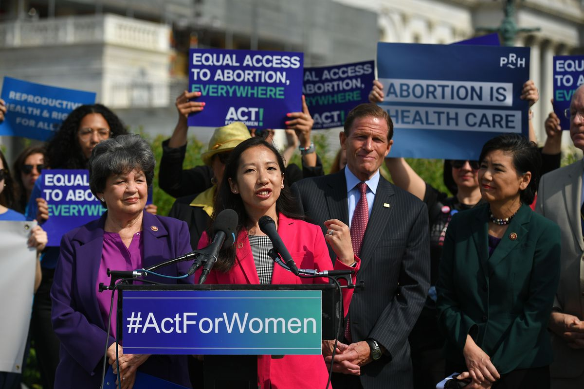 Leana Wen, then President of Planned Parenthood, speaks during a press conference on May 23, 2019.