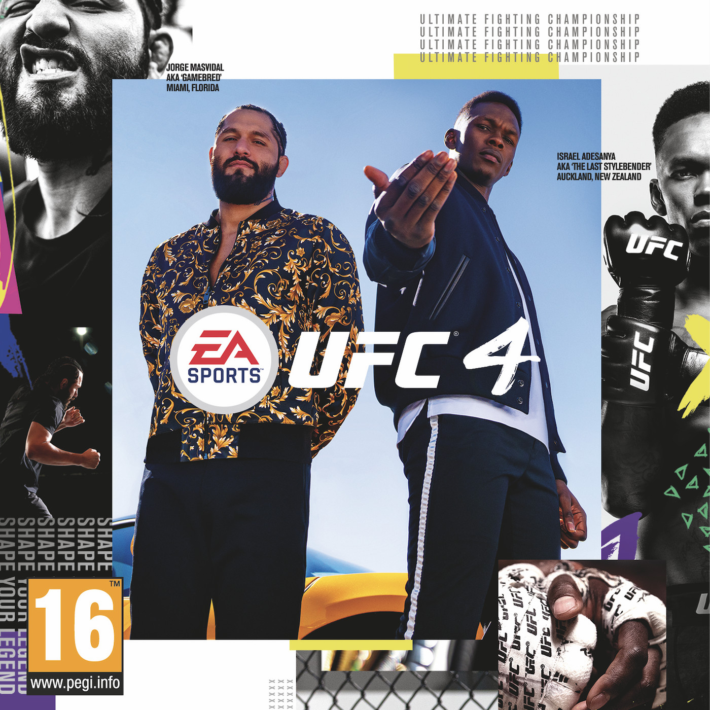Israel and Masvidal as the covers for UFC 4