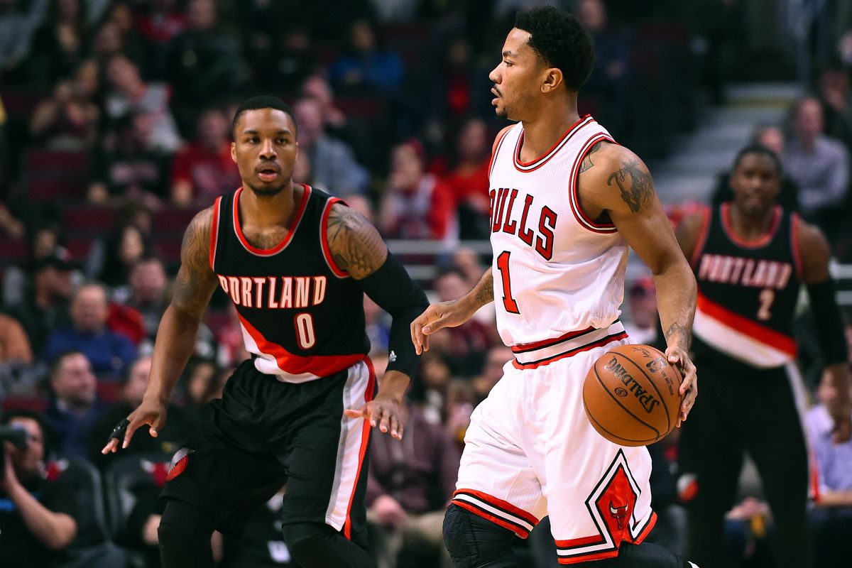 3cae5bfb9fdd Bulls vs. Trail Blazers final score  Derrick Rose scores season-high 31  points in 115-106 victory