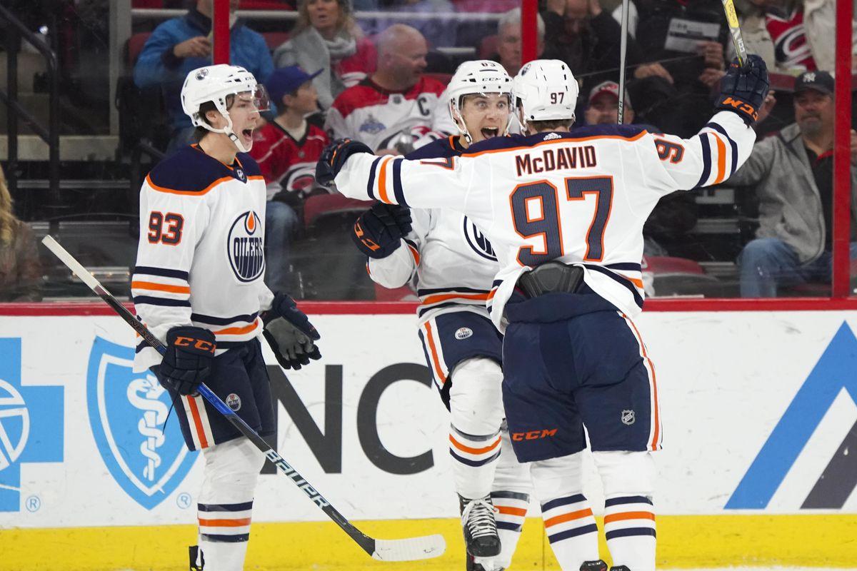 NHL: Edmonton Oilers at Carolina Hurricanes