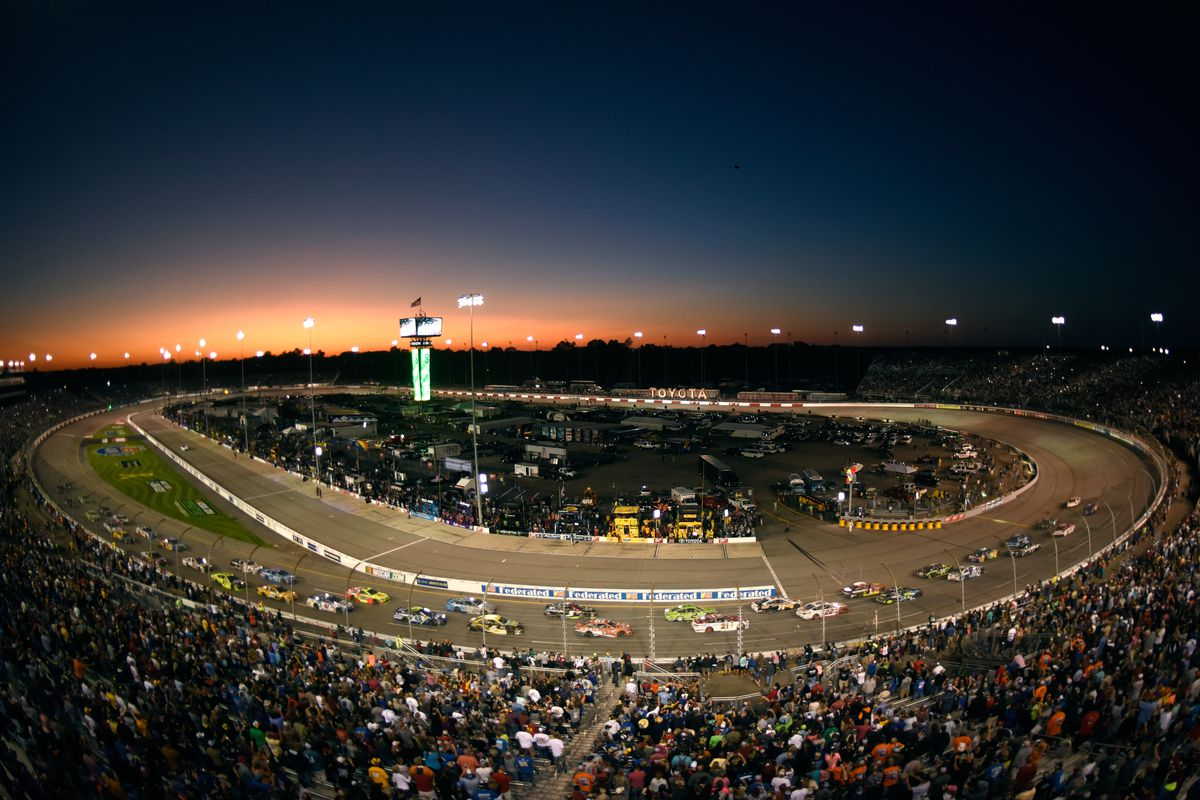 A general view of the action during the Monster Energy NASCAR Cup Series Federated Auto Parts 400 at Richmond Raceway on September 9, 2017 in Richmond, Virginia.