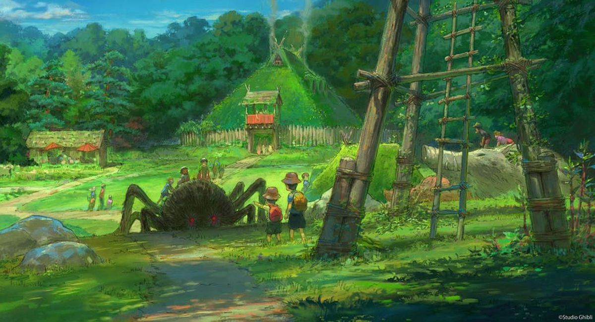 Illustration of Studio Ghibli amusement park