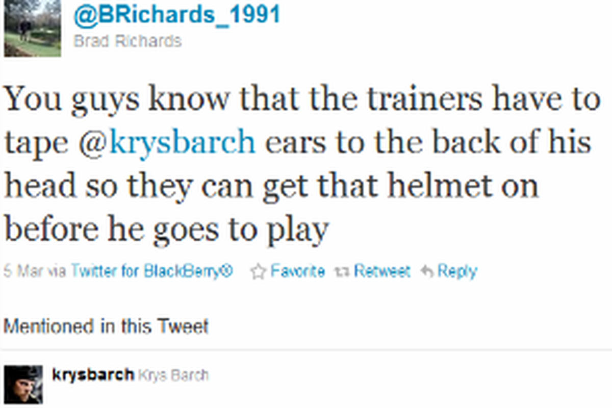 Tweets like this from Brad Richards have kept people entertained off the ice as well as helped develop a connection between athlete and fan.