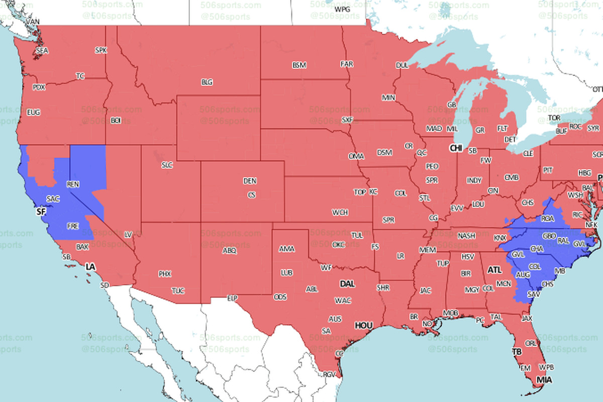 ErsPanthers TV Schedule Broadcast Maps In The US - San francisco on us map
