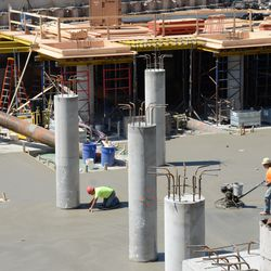 1:25 p.m. Another view of the plaza section, where the Cubs clubhouse will be located underground -
