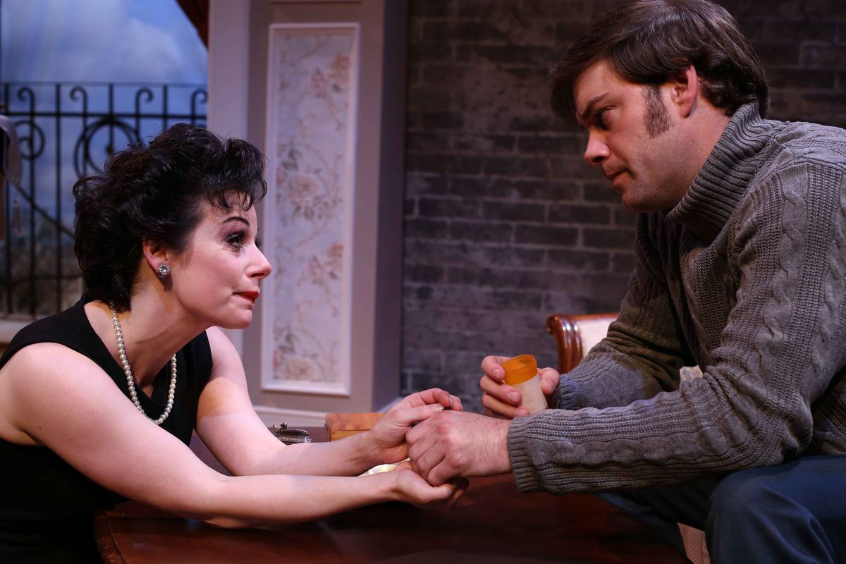 """Angela Ingersoll starred as Judy Garland, with Kyle Hatley as her fiance, in the Porchlight Music Theatre production of """"End of the Rainbow."""" 