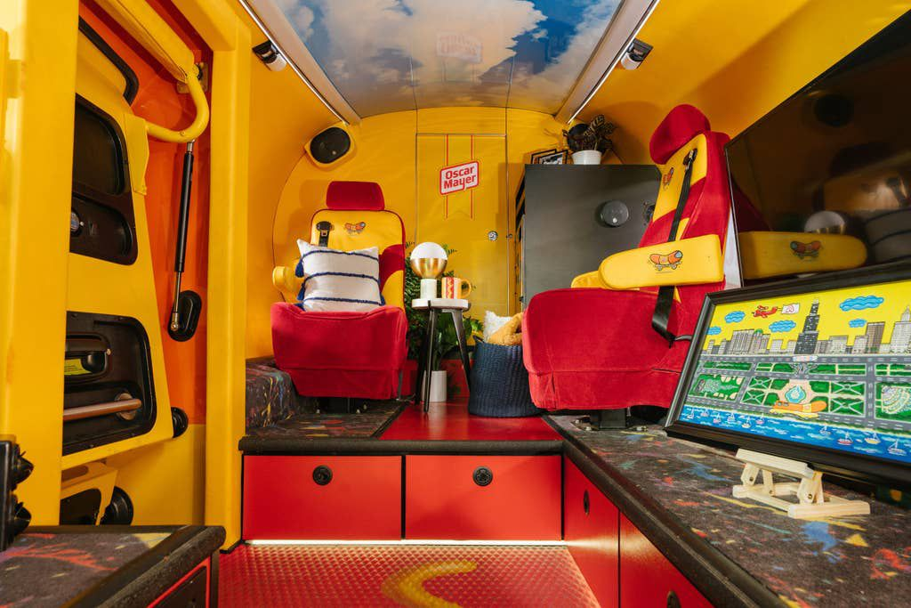 Red and yellow interior