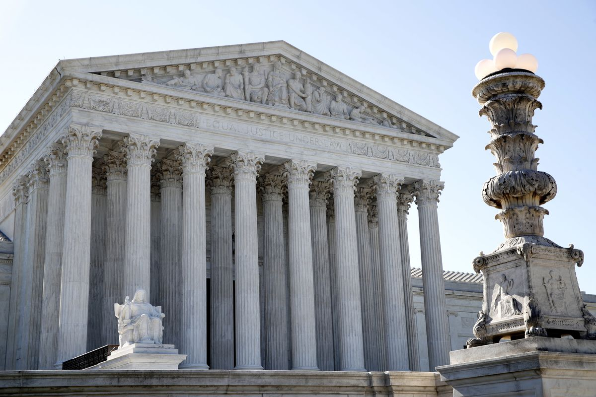 The Supreme Court is seen Monday, July 9, 2018, in Washington. Utah has joined with 28 states fighting to preserve a historic cross honoring World War I veterans in Maryland as part of a case that they say has broader First Amendment implications.