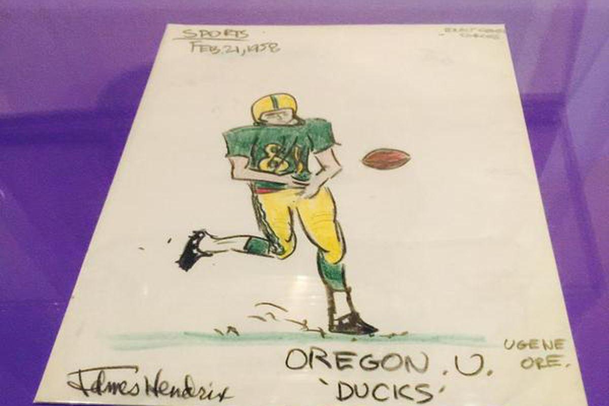 Jimi Hendrix Oregon Ducks art