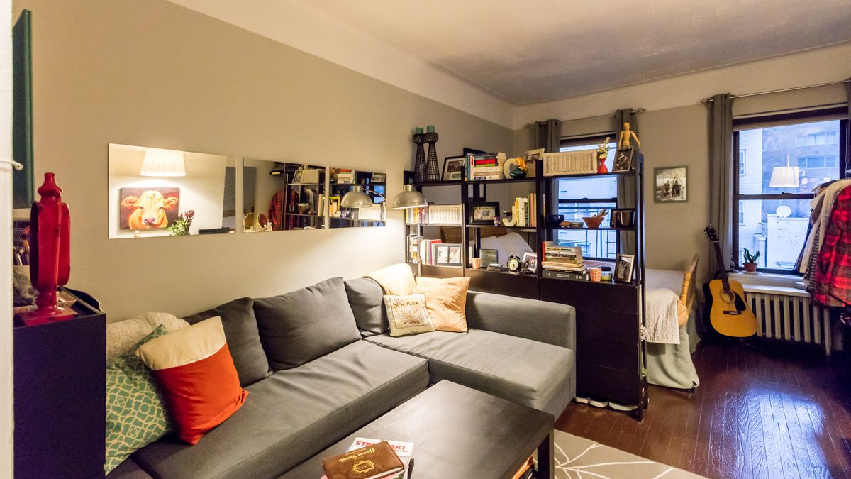 A 225 Square Foot Midtown East Studio Is Enlivened By A Diy Redesign Curbed Ny