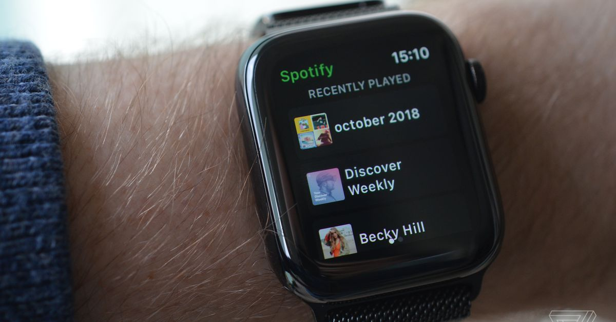 A First Look at Spotify on the Apple Watch