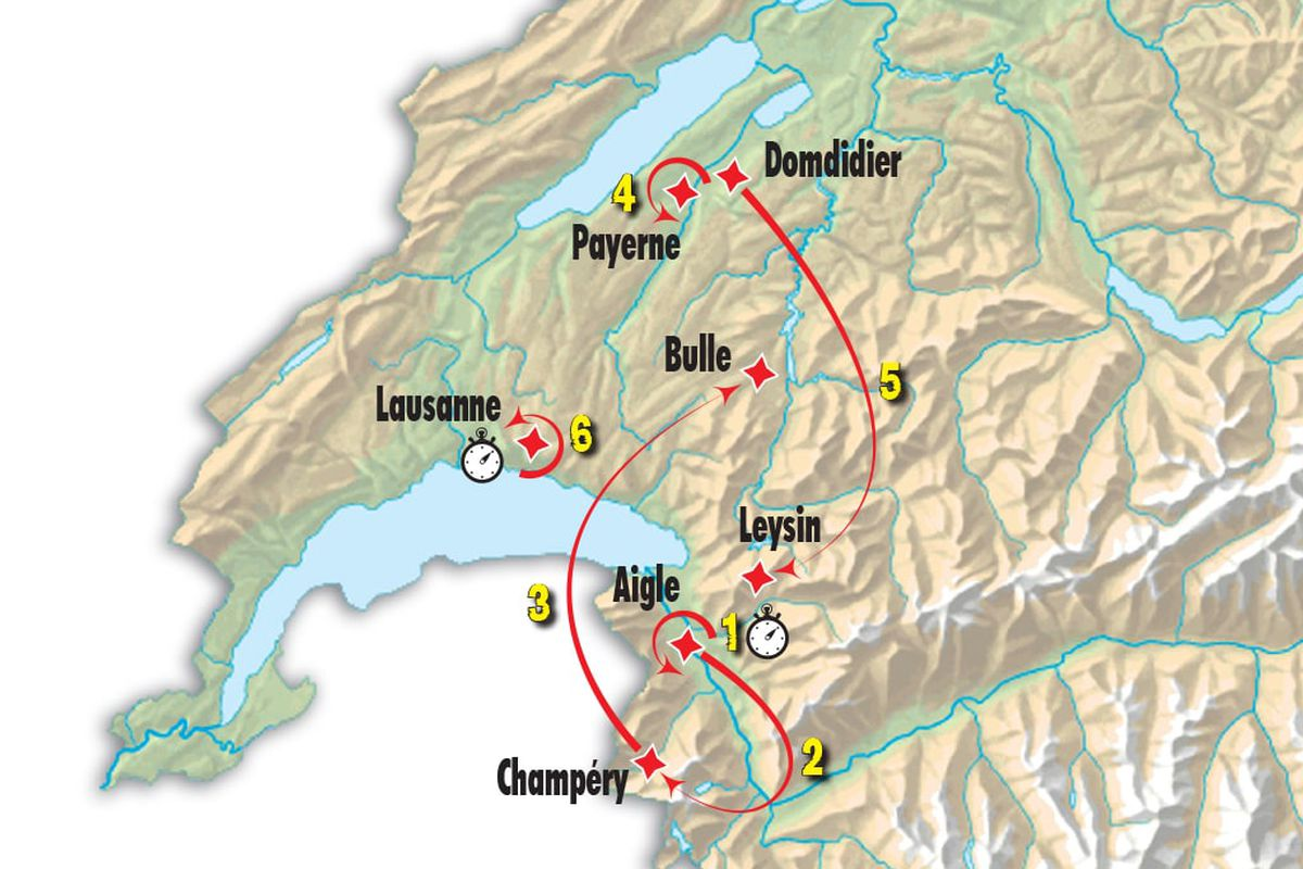 Tour de Romandie Route