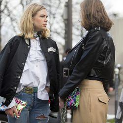 Varsity bombers, ruffles, and Gucci at Paris Fashion Week.