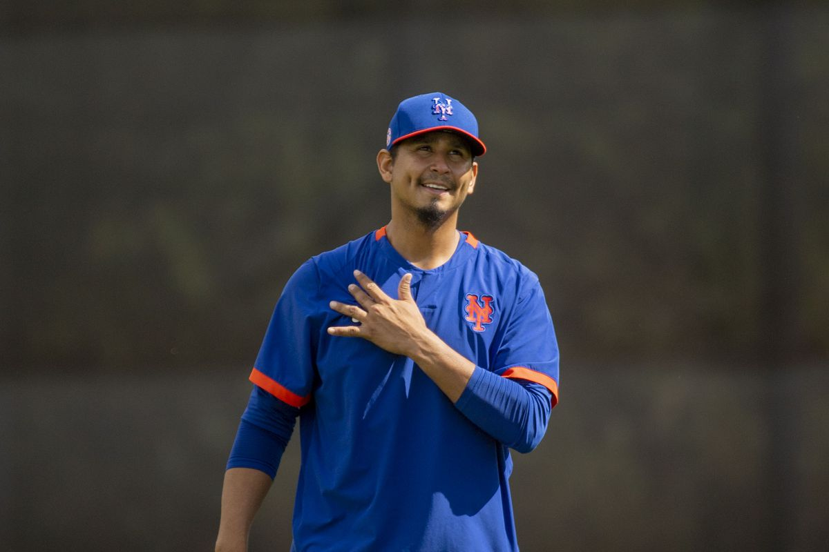 New York Mets Pitcher Carlos Carrasco During Spring Training