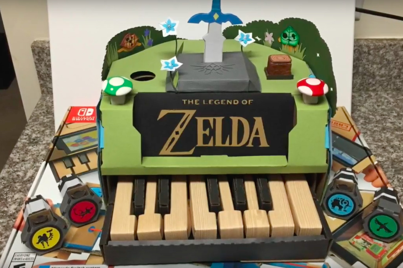 nintendo labo contest winners include a zelda piano and a solar powered accordion