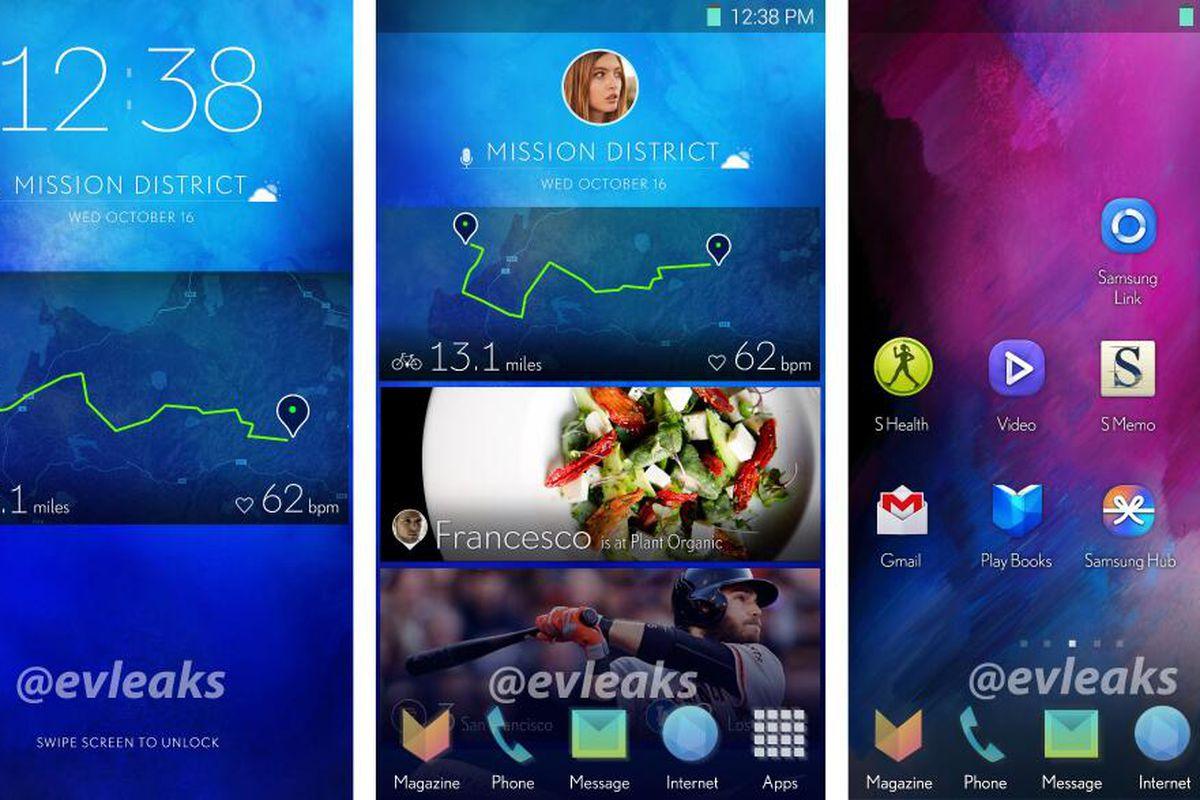 Samsung interface leak evleaks