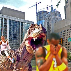 Westbrook's T-rex is bad news for Kobe