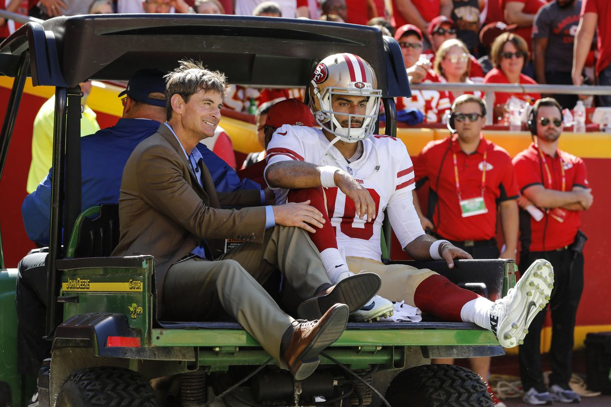 196f321f721 49ers vs. Packers  Jimmy Garoppolo s injury not 49ers  only problem ...