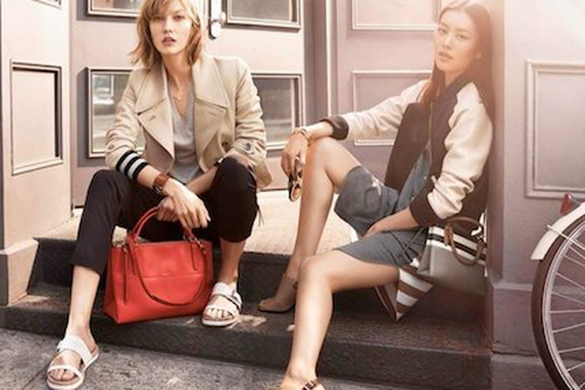 """An image from the Spring 2014 campaign; Image via <a href=""""http://stylepantry.com/2013/12/26/coach-spring-2014-campaign-featuring-karlie-kloss-liu-wen/"""">Style Pantry</a>"""
