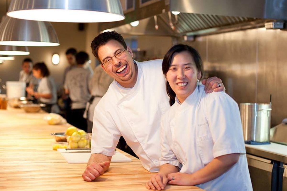 Seif Chirchi (left) and Rachel Yang