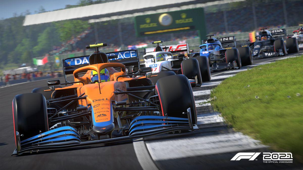 McLaren fan favorite Lando Norris racing at his home track, Silverstone