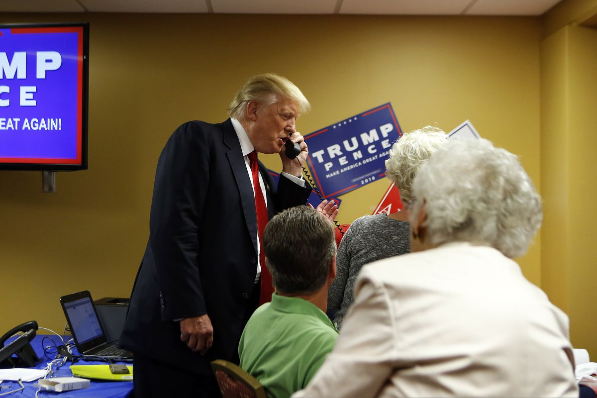Donald Trump Holds Campaign Rally In Asheville, North Carolina