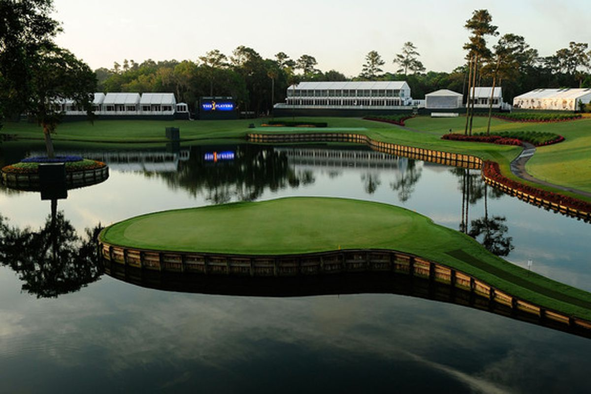 PONTE VEDRA BEACH, FL - MAY 03:  A view of the 17th hole prior to a practice round for THE PLAYERS at TPC Sawgrass on May 3, 2010 in Ponte Vedra Beach, Florida.  (Photo by Sam Greenwood/Getty Images)