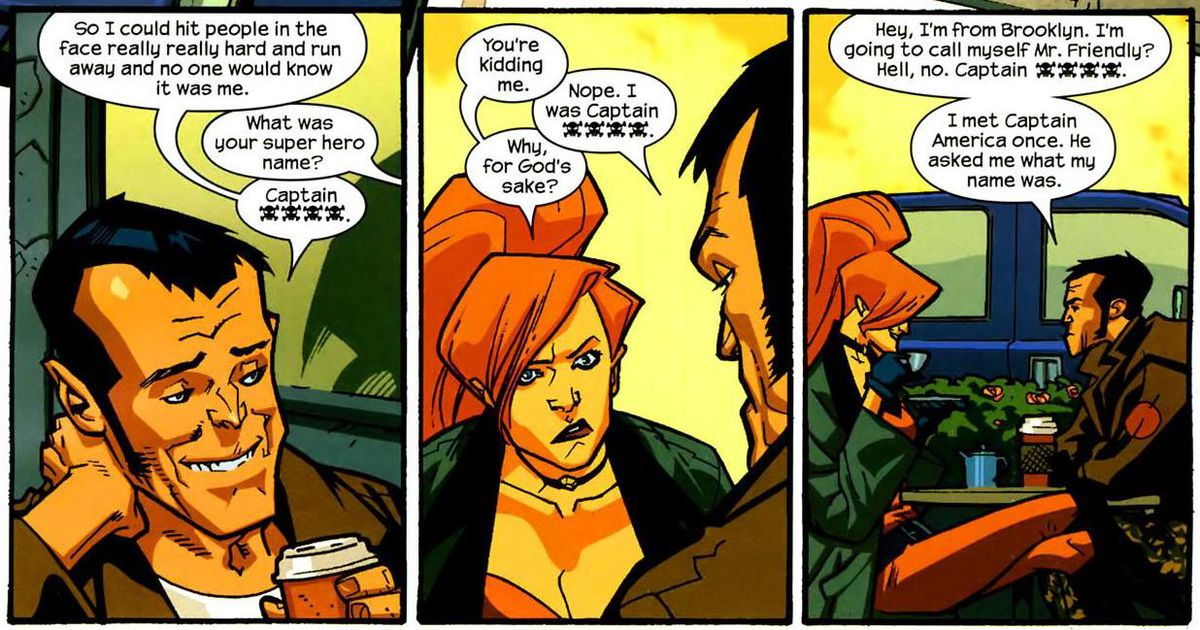 "Elsa Bloodstone and ""the Captain,"" in Nextwave, Marvel Comics 2006."