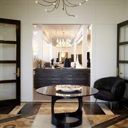 Lobby of Wearstler's 6,000 square ft design offices