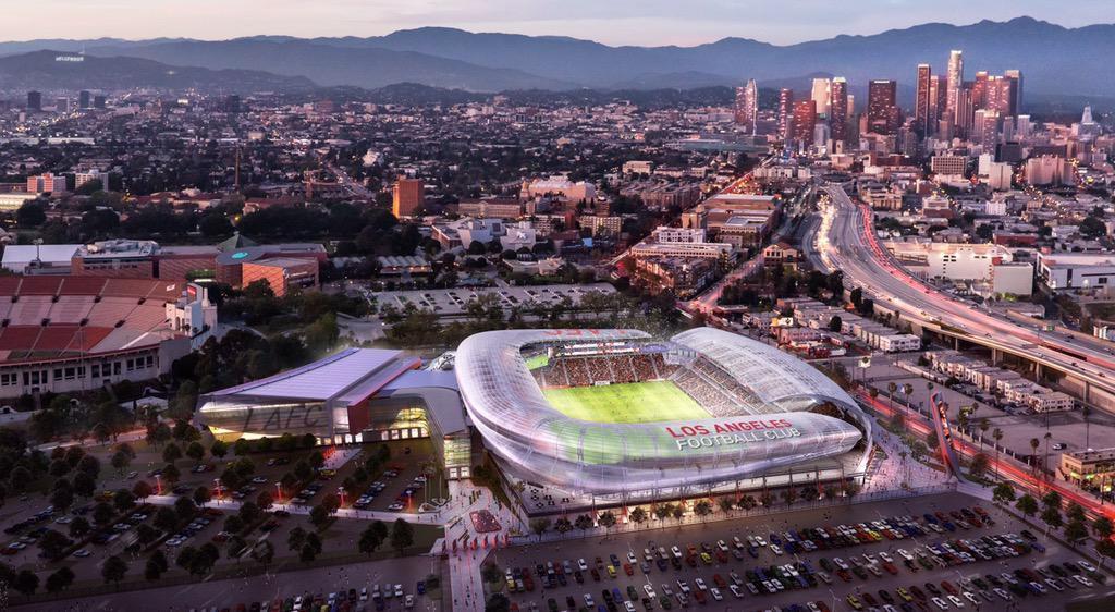 LAFC stadium rendering, Gensler