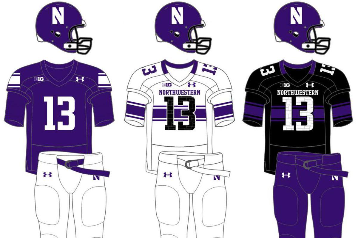 quality design d37a4 45b6b Evaluating Northwestern's 2014 uniform options - Inside NU