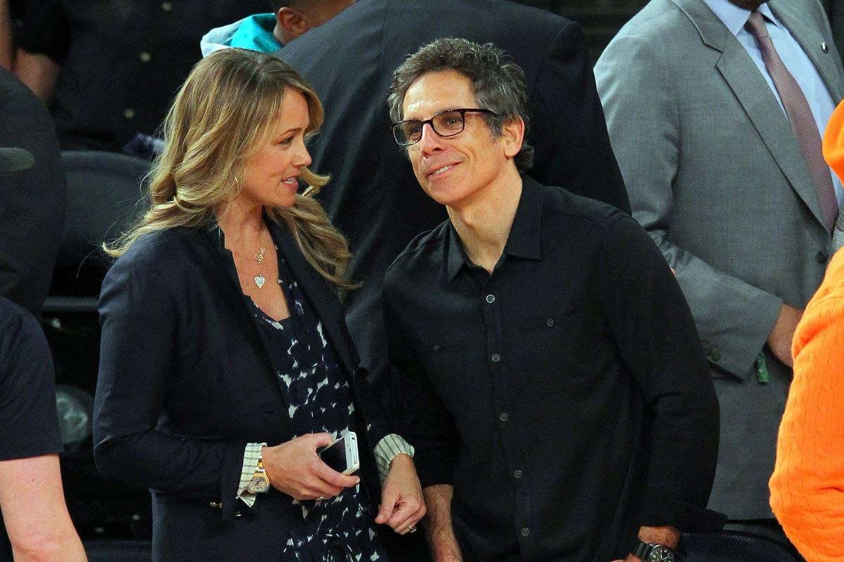 Ben Stiller and his wife Christine Taylor are at Madison Square Garden.